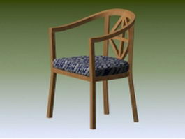 Wood tub chair 3d preview