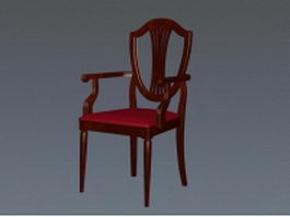 Victorian style accent chair 3d preview