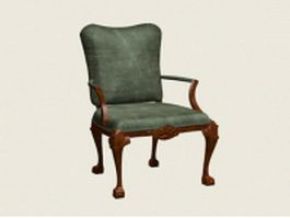 French accent chair 3d preview