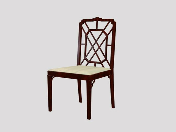Antique dining chair 3d rendering