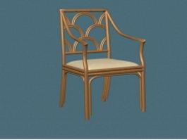 Antique arm chair 3d preview