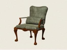 Vintage accent chair 3d preview