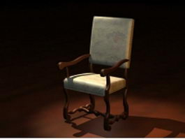 Antique French armchair 3d preview
