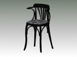Antique reproduction bar stool 3d preview