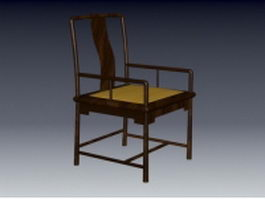 Asian style arm chair 3d preview