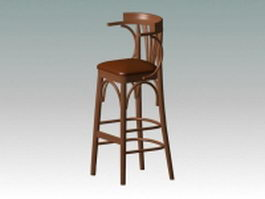 Antique bar stool 3d preview