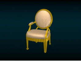 Antique Victorian chair 3d preview