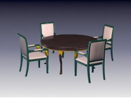 Antique dining room sets 3d preview