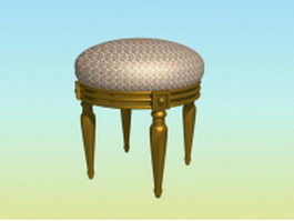 Antique piano stool 3d preview