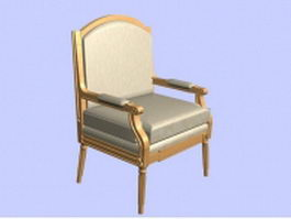 Retro armchair 3d preview
