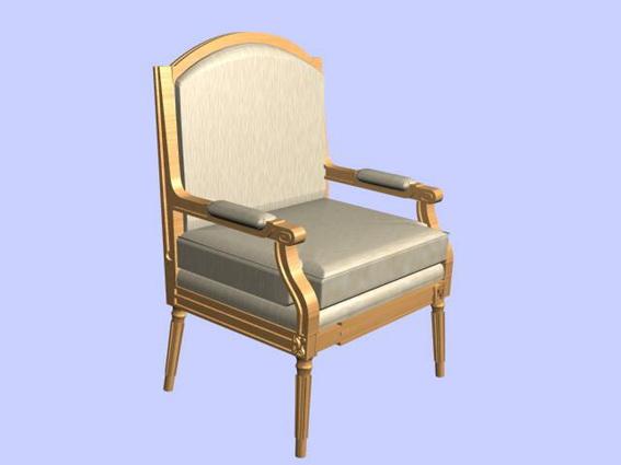 Retro armchair 3d rendering