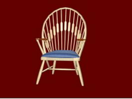 Windsor arm chair 3d preview