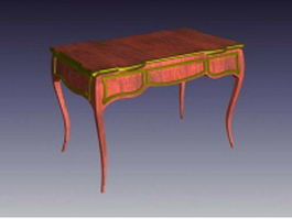 French country writing desk 3d preview
