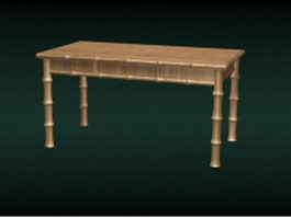 Bamboo dining table 3d preview