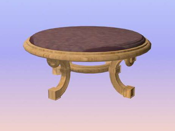 Round banquet table 3d rendering