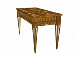 Antique wood table 3d preview
