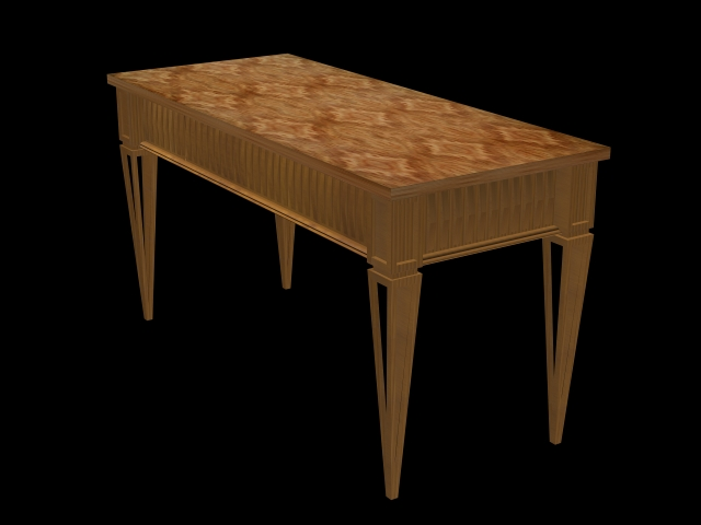Antique wood table 3d rendering
