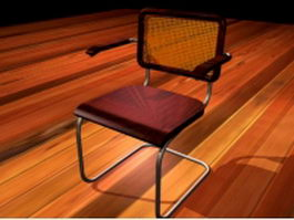 Vintage cantilever chair 3d preview