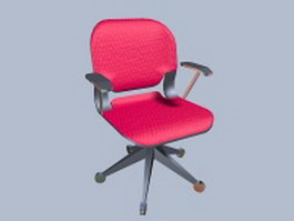 Pink revolving chair 3d preview