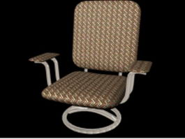 Upholstered swivel chair 3d preview