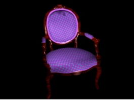 Victorian accent chair 3d preview