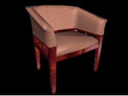 Upholstered tub chair 3d preview
