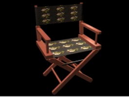 Canvas folding chair 3d preview