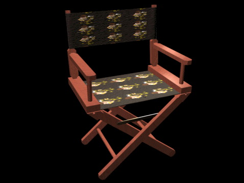 Canvas folding chair 3d rendering