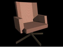 Swivel accent chair 3d preview
