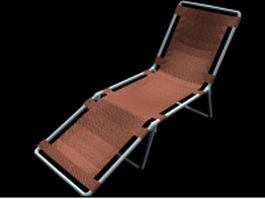 Folding sun lounge chair 3d preview