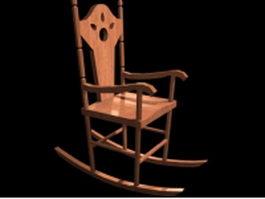 Victorian antique rocking chair 3d preview