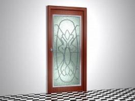 Etched glass door 3d preview