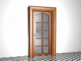 Glazed internal door 3d model preview