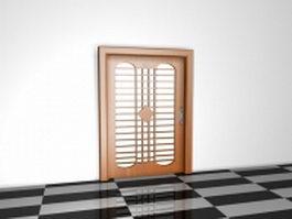 Glazed entry door 3d model preview