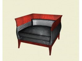Upholstered cube chair 3d model preview