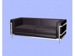 Leather office sofa 3d model preview