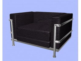 Office sofa chair 3d model preview