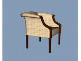 Low back arm chair 3d preview