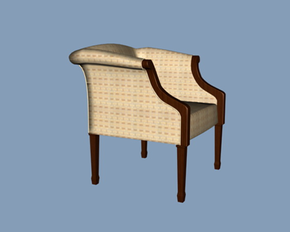 Low back arm chair 3d rendering