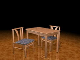 Small breakfast table sets 3d preview