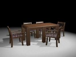 Formal dining room sets 3d model preview