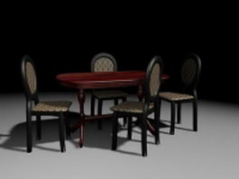Small apartment dinette sets 3d model preview