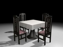 Restaurant dining sets 3d preview