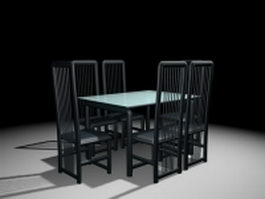 Modern dining room sets 3d preview
