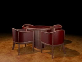 Patio dining sets 3d preview