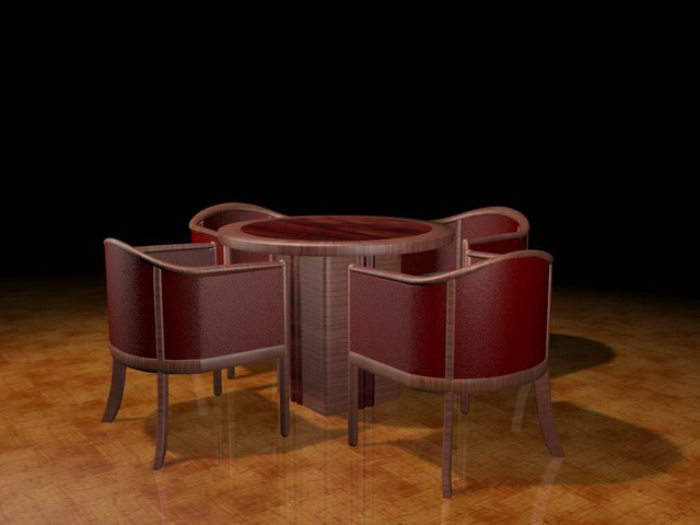 Patio dining sets 3d rendering