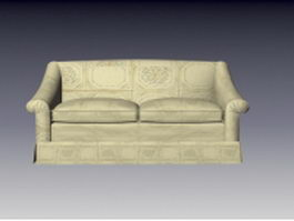 Fabric loveseat 3d preview