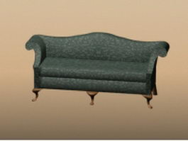 Vintage settee furniture 3d preview