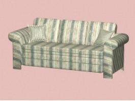 Modern striped sofa 3d model preview