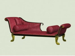 Victorian chaise lounge 3d preview